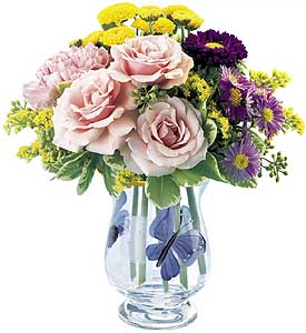 Flowers delivery to Russia - arrangement 'Garden Fresh Blooms'